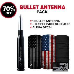 Alpha Defense Gear Bullet Antenna Pack - DA-P88192-TK10