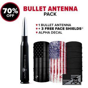 Alpha Defense Gear Bullet Antenna Pack - DA-P88192-TK15