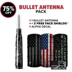 Alpha Defense Gear Bullet Antenna Pack - DA-P88192-TK5