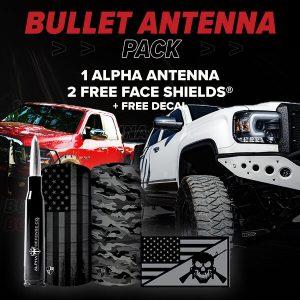 Alpha Defense Gear Bullet Antenna Pack - DA-P88201