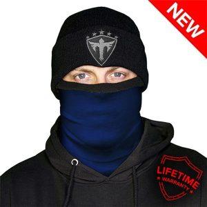 Alpha Defense Gear Frost Tech™ / Navy Fleece Face Shield™ / Multi-Use Tubular Bandana / Blue