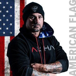 Alpha Defense Gear Inner Lined Hoodie / American Flag / Size M / Red/White/Blue