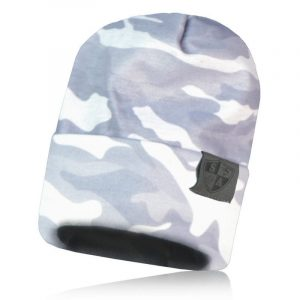Alpha Defense Gear Performance Beanie / Ghost Military Camo / Polyester/Cotton / White