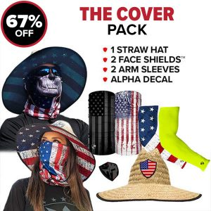 Alpha Defense Gear The Cover Pick Your Pack / Includes: Face Shield™, Decal Sticker, Hat - DA-P88173-UP5