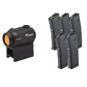Brownells Sig Romeo5 Red Dot Sight With 5x Pmags - Sig Romeo 5 Red Dot With 5x Pmags