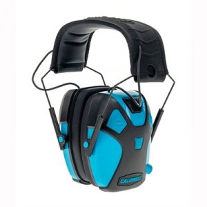 Caldwell Shooting Supplies Youth E-Max Pro Electronic Earmuff - Youth E-Max Pro Electronic Earmuff Neon Blue