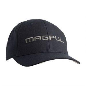 Magpul Wordmark Stretch Fit Hats - Wordmark Stretch Fit S/M Black