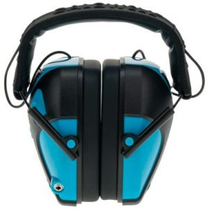 Caldwell E-Max Pro Electronic Hearing Protection Earmuffs for Youth - Neon Blue