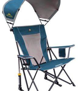 GCI Outdoor SunShade Rocker Camp Chair - Neptune Blue