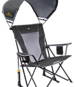 GCI Outdoor SunShade Rocker Camp Chair - Pewter